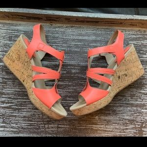 Pink Sperry Top Sider Dawn Day Cork Wedges